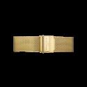Rosefield Armband Guldpläterat rostfritt mesharmband. Armbandet är lättjusterat till minsta längden på 14.5 cm och längsta på 19,5 cm. Ring Eggshell white dial detailed with gold-plated hands and indexes.Svart urtavla med guldpläterade visare och index. Rörelse Hållbart japanskt quartzur. Garanti Två år från köptillfället. Vattenresistant 3 ATM.