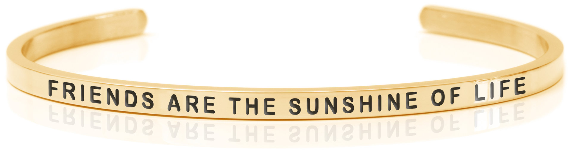 Daniel Sword armring Friends are the sunshine of life Gold