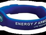 EA Energi armband blå vit text