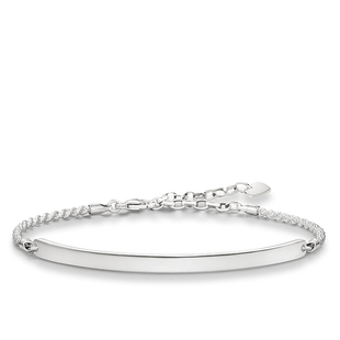 Thomas Sabo Love bridge silver armband med platta att gravera justerbar  längd 786b724344c19