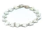 Barn armband med små fjärilar i äkta silver