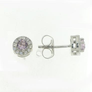Scoop örhänge i Äkta silver 925 rhodierat silver Med en ljus lila ... aaaa8c6d137d2