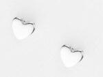 Hjärtörhänge i silver från Liga Design svensk tillverkade