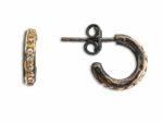 By Birdie creol örhänge Roman Hoop Creole Pavé Silver, guld, Diamant