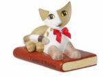 Goebel katt letura med bok