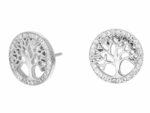 Livets träd örhänge i silver